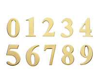 Brass Number and Letter